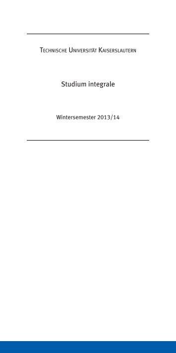 Studium integrale - Universität Kaiserslautern