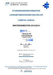 Studierendeninformation - Universität Koblenz · Landau