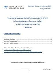 Biologie - Universität Koblenz · Landau