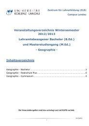 Geographi - Universität Koblenz · Landau
