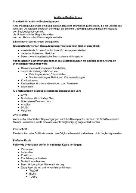 amtliche Beglaubigung - Universität Koblenz · Landau