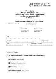 Antr. a. Einschr. z. Bach_Master WS13_14 - Universität Koblenz ...