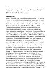 Bewohner und Klientenbefragung in den Einrichtungen der Stiftung ...