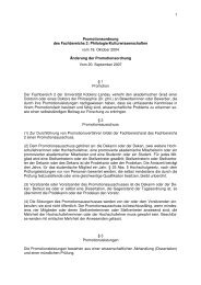 Promotionsordnung geändert 20.09.07 - Universität Koblenz · Landau
