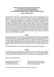 Dritte Ordnung zur Änderung der Prüfungsordnung für die Prüfung ...
