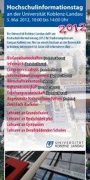 Informationen - Universität Koblenz · Landau