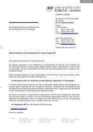 diesem Formular - Universität Koblenz · Landau