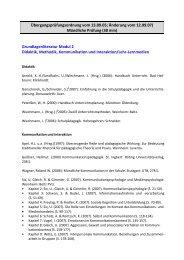 Grundlagenliteratur Modul 2 Didakt - Universität Koblenz · Landau