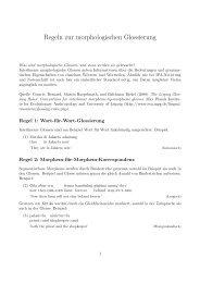 Regeln zur morphologischen Glossierung - Universität Konstanz