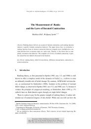 The Measurement of Ranks and the Laws of Iterated Contraction