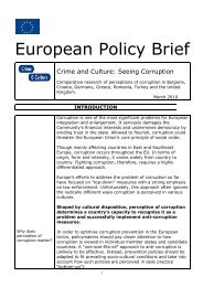 CRIME AND CULTURE Policy Brief