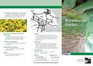 Flyer Botanischer Garten - Universität Konstanz