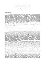 An Approach to Syntactic Reconstruction Ilja A. Seržant (University ...