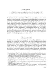 Gefahrenverdacht und polizeiliche Generalklausel