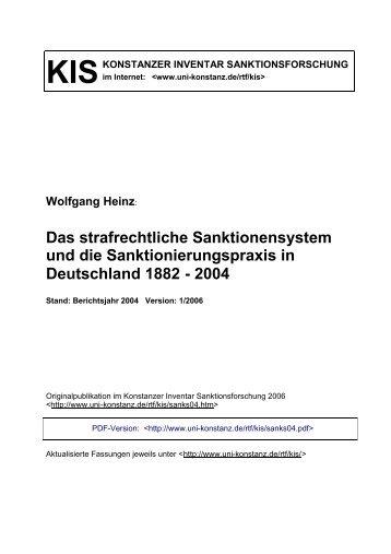 Das strafrechtliche Sanktionensystem und die ...