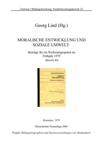 Moralische Entwicklung und soziale Umwelt - Universität Konstanz