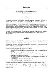Hausordnung der Universität zu Lübeck