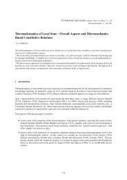 Thermodynamics of Local State : Overall Aspects and ...