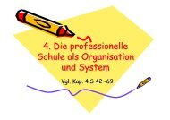 4. Die professionelle Schule als Organisation und System 4. Die ...