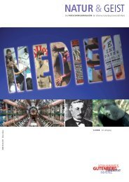 NATUR &GEIST; - Johannes Gutenberg-Universität Mainz