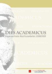Dies Academicus - Johannes Gutenberg-Universität Mainz