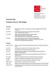 Vita von Friedemann Schrenk - Johannes Gutenberg-Universität ...