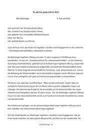 Otto Boehringer - Johannes Gutenberg-Universität Mainz