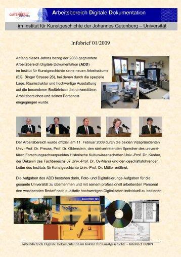 ADD-Infobrief 01/2009 - Johannes Gutenberg-Universität Mainz
