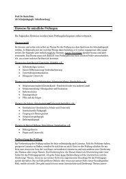 Hinweise für mündliche Prüfungen