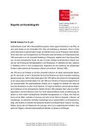 Biografie und Kurzbibliografie