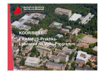 KOOR/BEST – ERASMUS-Praktika- Leonardo da Vinci-Programm
