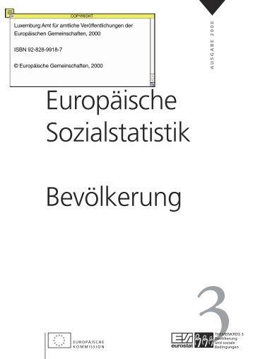 Europäische Sozialstatistik Bevölkerung