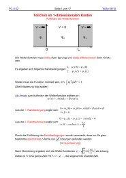 Teilchen im 1-dimensionalen Kasten
