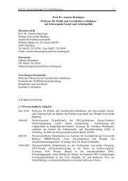 Prof. Dr. Annette Henninger Professur für Politik ... - Uni-marburg.de