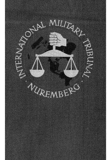 Trial of the Major War Criminals before International Military Tribunal ...