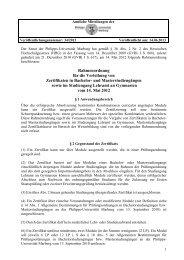 Rahmenordnung für die Verleihung von Zertifikaten in Bachelor ...