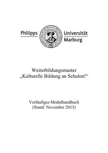 Modulhandbuch - Uni-marburg.de