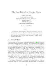 The Euler Ring of the Rotation Group - Mathematisches Institut ...