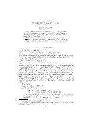 On the equation $x^n - Mathematisches Institut - GWDG