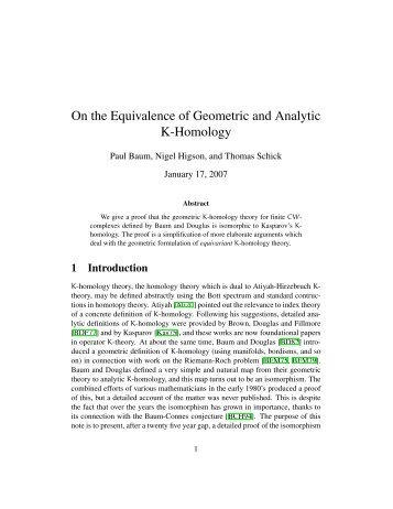On the Equivalence of Geometric and Analytic K-Homology