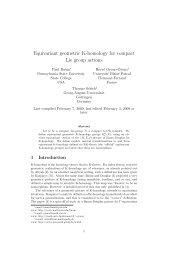 Equivariant geometric K-homology for compact Lie group ... - GWDG