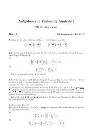 AnalysisI 2 - GWDG