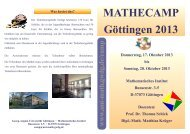 Flyer - Mathematisches Institut - GWDG