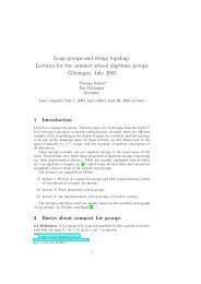 Loop groups and string topology Lectures for the summer ... - GWDG