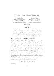 On a conjecture of Daniel H. Gottlieb - Mathematisches Institut