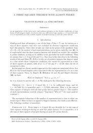 a three squares theorem with almost primes - Mathematisches Institut