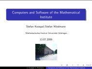 Introduction to computers at the MI - Mathematisches Institut - GWDG
