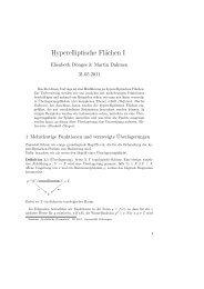 Hyperelliptische Flächen I