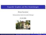 Expander Graphen und Ihre Anwendungen - Mathematisches Institut
