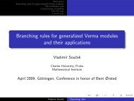 Branching rules for generalized Verma modules and their applications